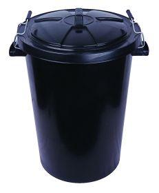 85LTR BLACK REFUSE BIN